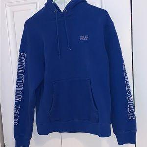 blue OBEY sweatshirt